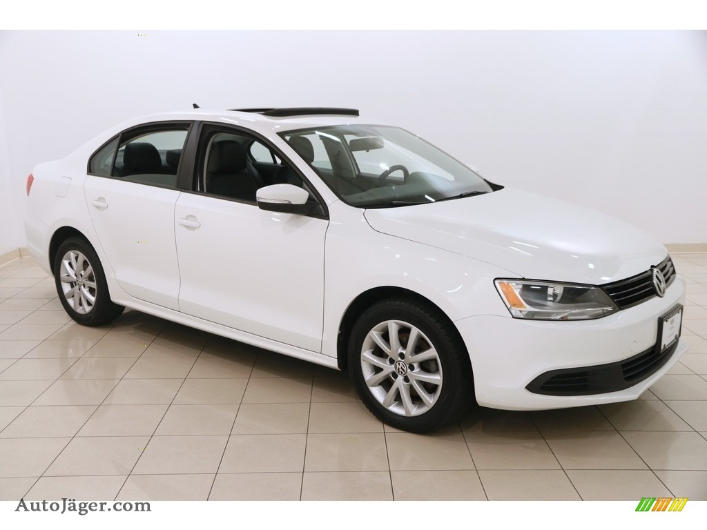 2012 Jetta SE Sedan - Candy White / Titan Black photo #1