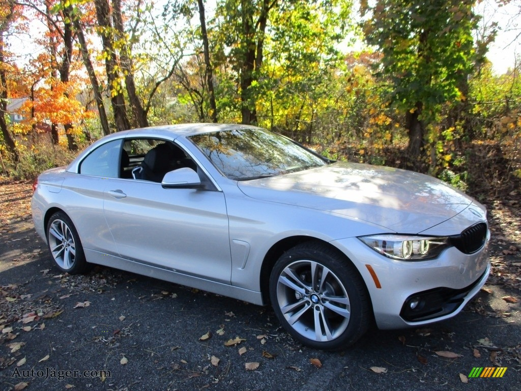 2018 4 Series 430i xDrive Convertible - Glacier Silver Metallic / Black photo #1
