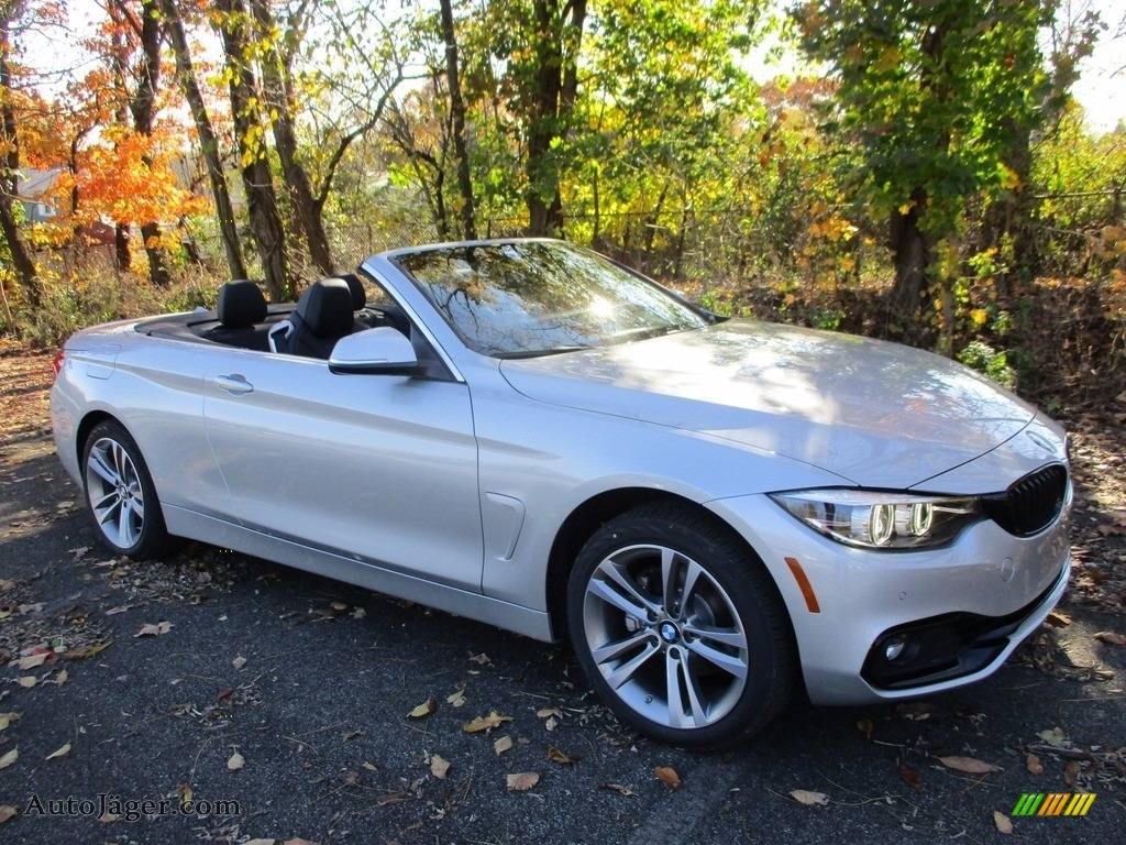 2018 4 Series 430i xDrive Convertible - Glacier Silver Metallic / Black photo #4