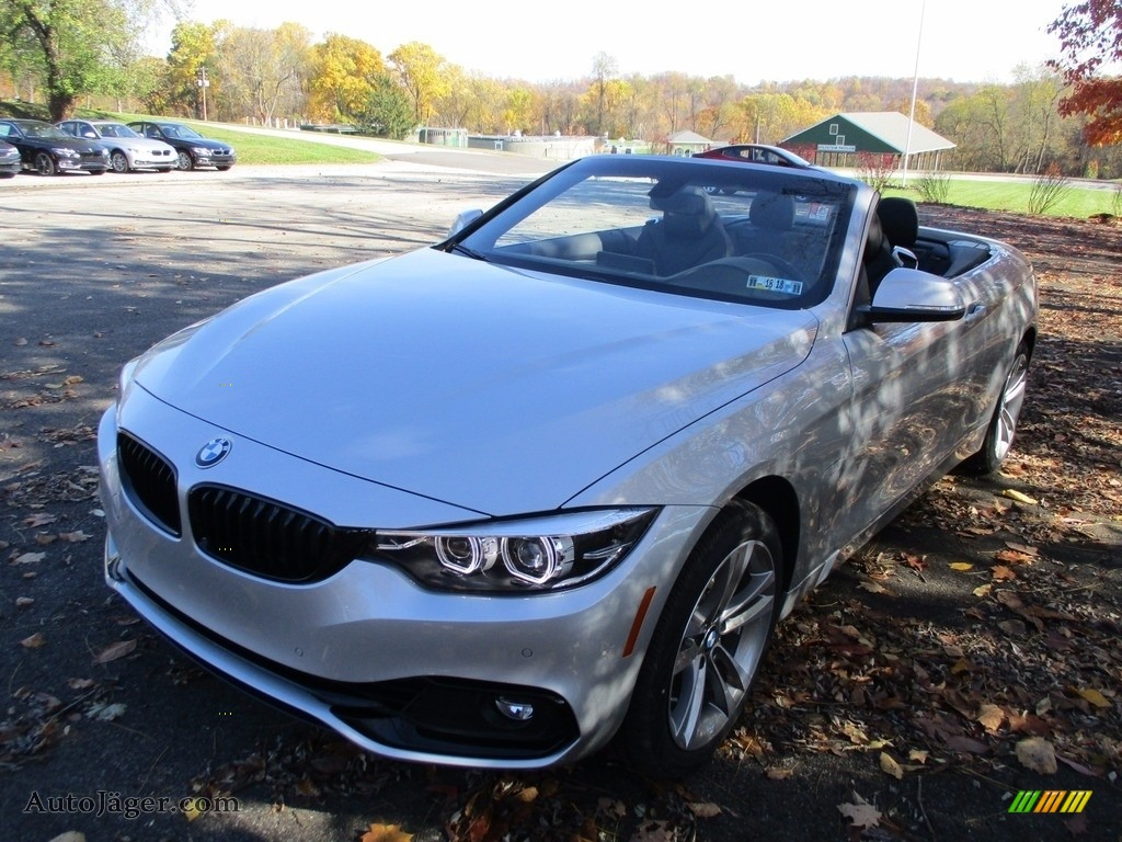 2018 4 Series 430i xDrive Convertible - Glacier Silver Metallic / Black photo #9