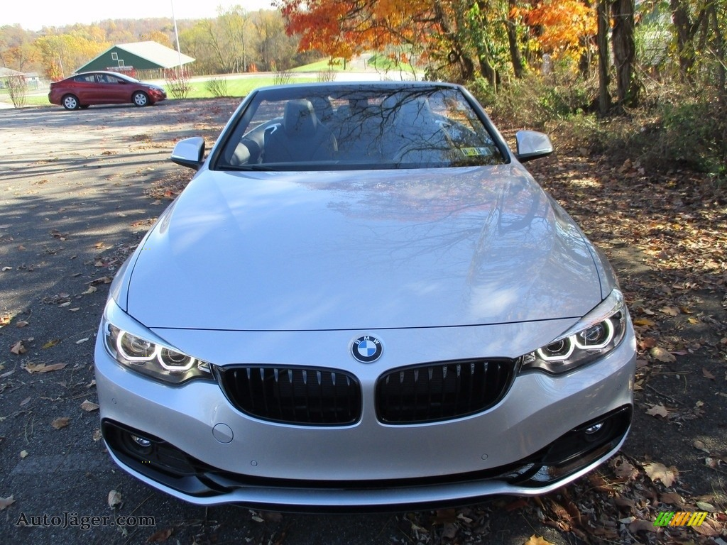 2018 4 Series 430i xDrive Convertible - Glacier Silver Metallic / Black photo #10