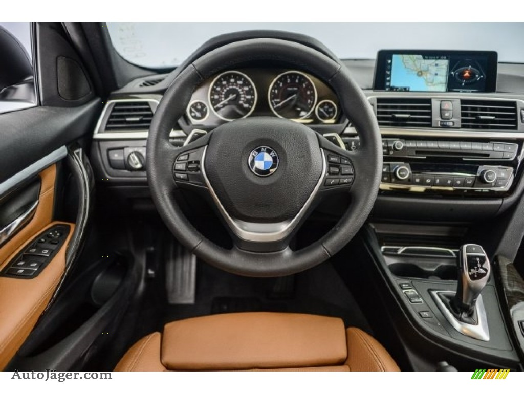 2017 3 Series 330i Sedan - Mineral Grey Metallic / Saddle Brown photo #4