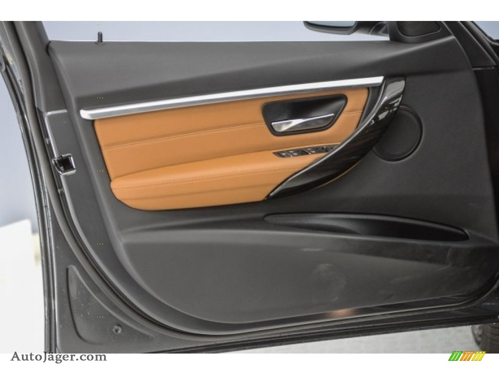 2017 3 Series 330i Sedan - Mineral Grey Metallic / Saddle Brown photo #18
