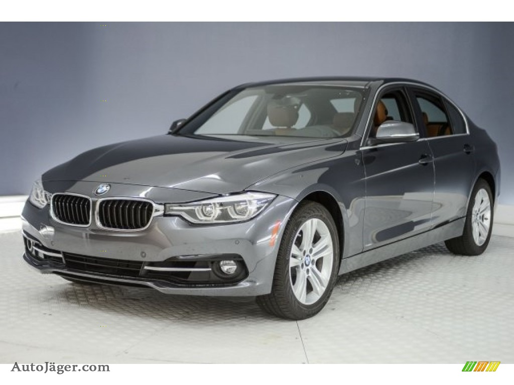2017 3 Series 330i Sedan - Mineral Grey Metallic / Saddle Brown photo #29