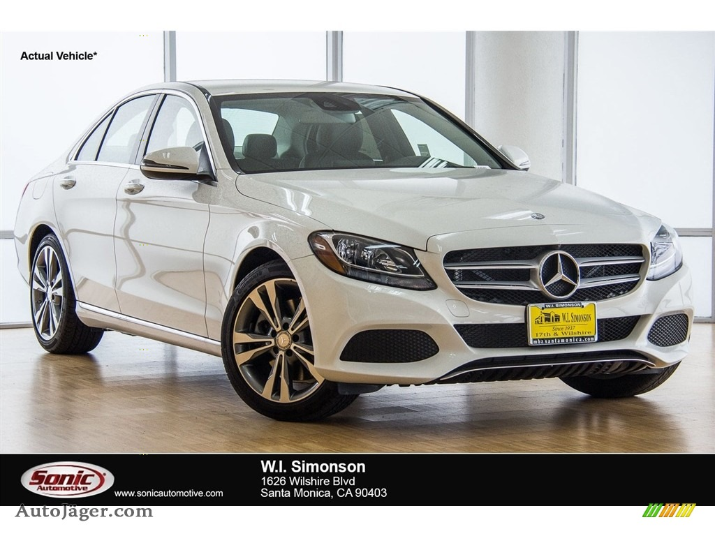 2018 C 300 Sedan - Polar White / Black photo #1
