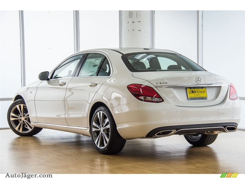 2018 C 300 Sedan - Polar White / Black photo #3