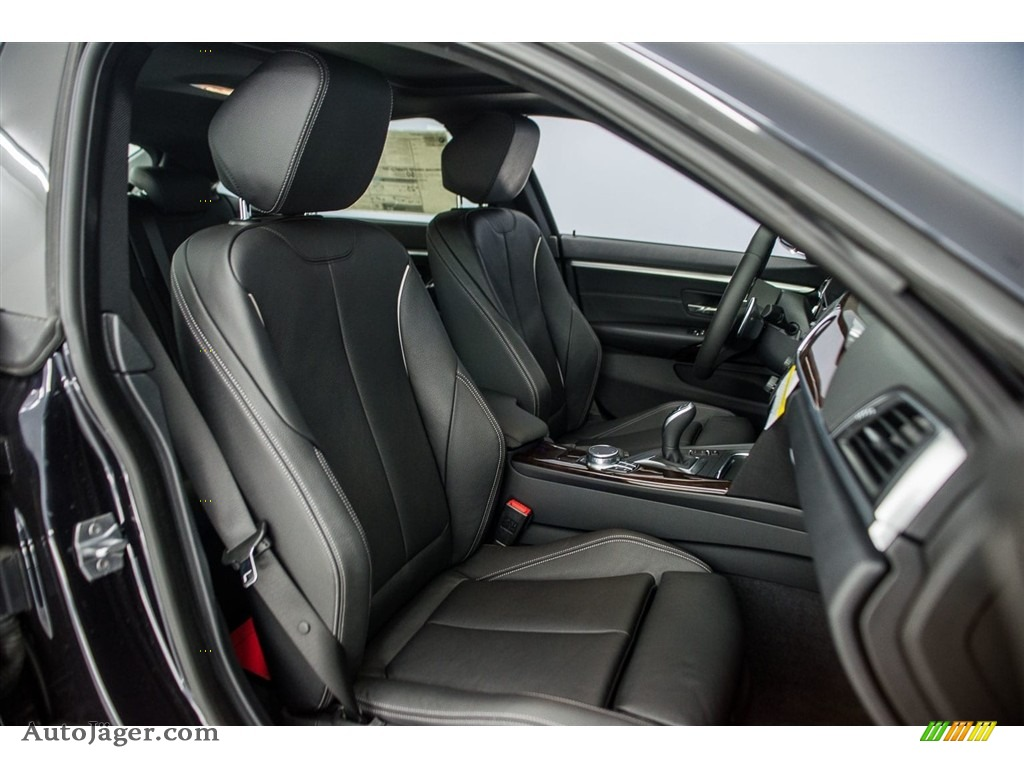 2018 4 Series 440i Gran Coupe - Carbon Black Metallic / Black photo #2