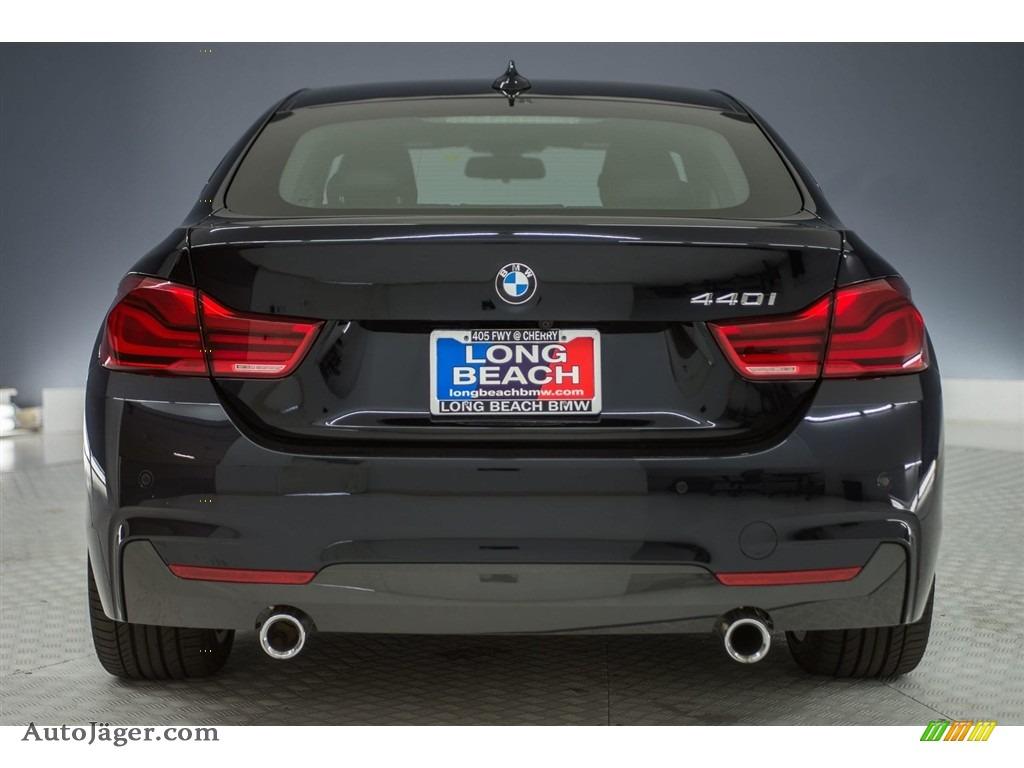 2018 4 Series 440i Gran Coupe - Carbon Black Metallic / Black photo #3