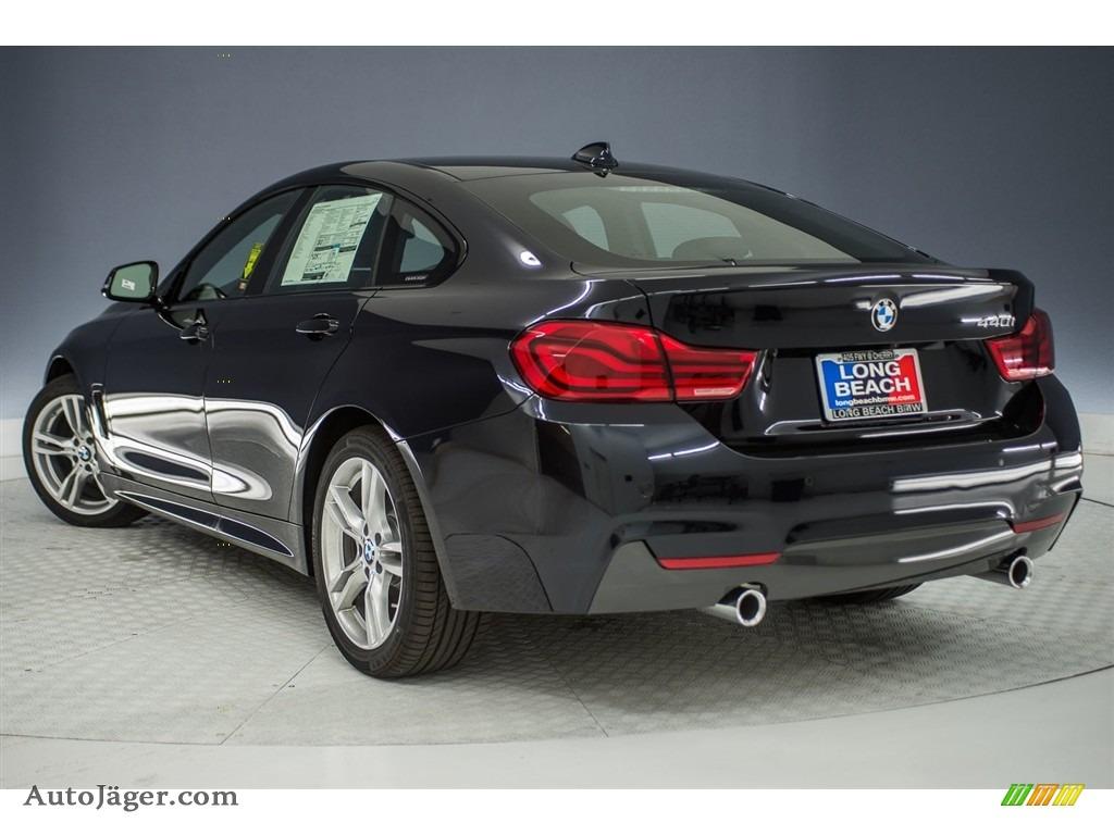 2018 4 Series 440i Gran Coupe - Carbon Black Metallic / Black photo #4