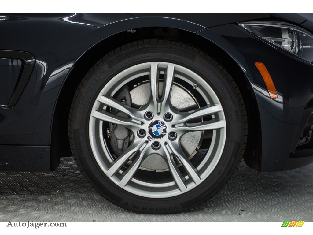 2018 4 Series 440i Gran Coupe - Carbon Black Metallic / Black photo #9