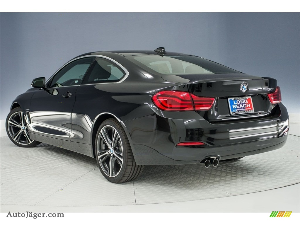 2018 4 Series 430i Coupe - Black Sapphire Metallic / Black photo #4