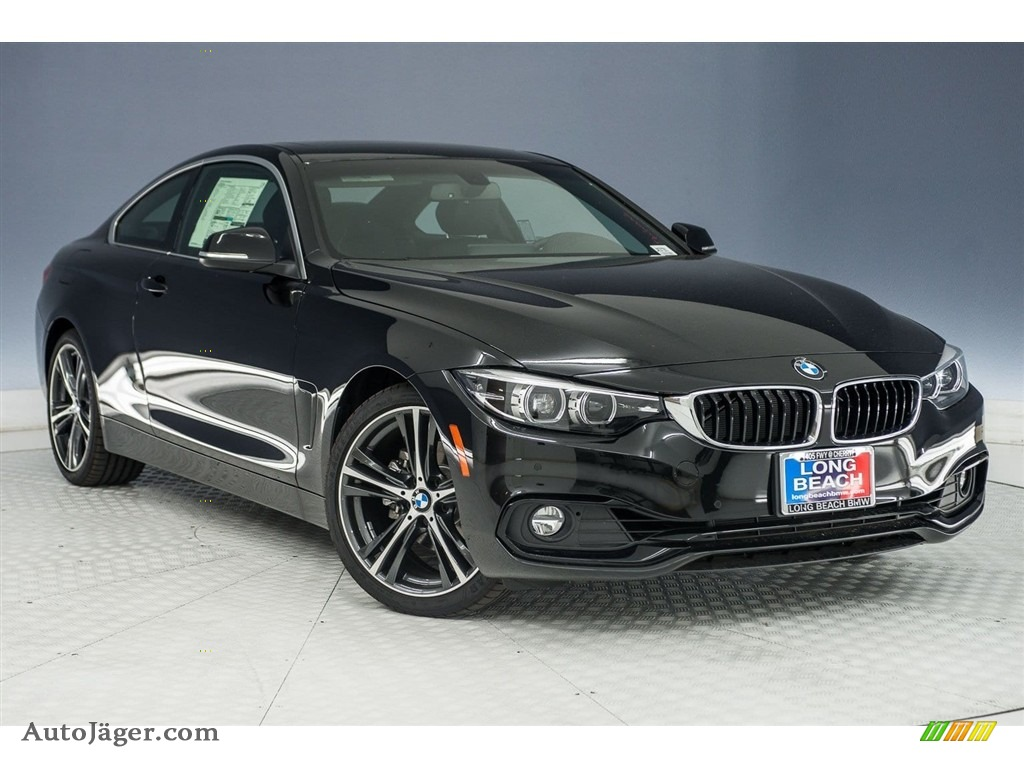 2018 4 Series 430i Coupe - Black Sapphire Metallic / Black photo #11
