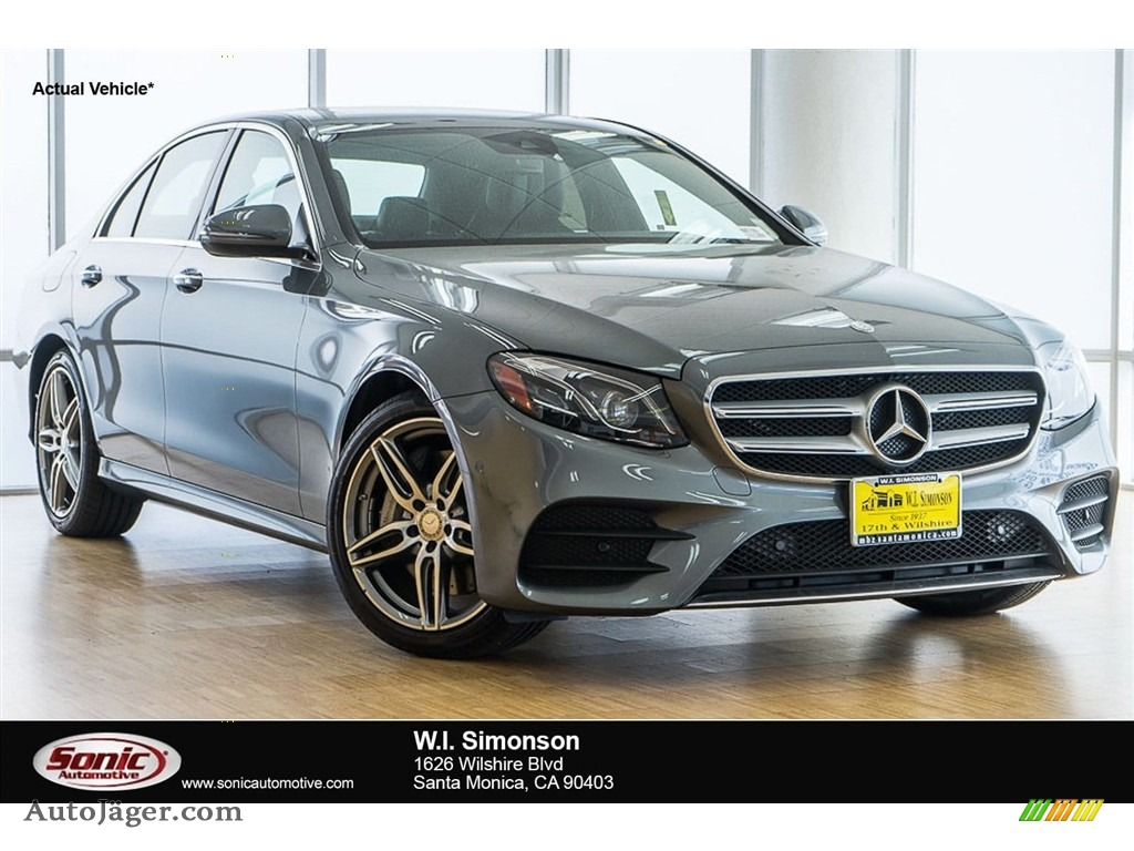 2018 E 300 Sedan - Selenite Grey Metallic / Black photo #1