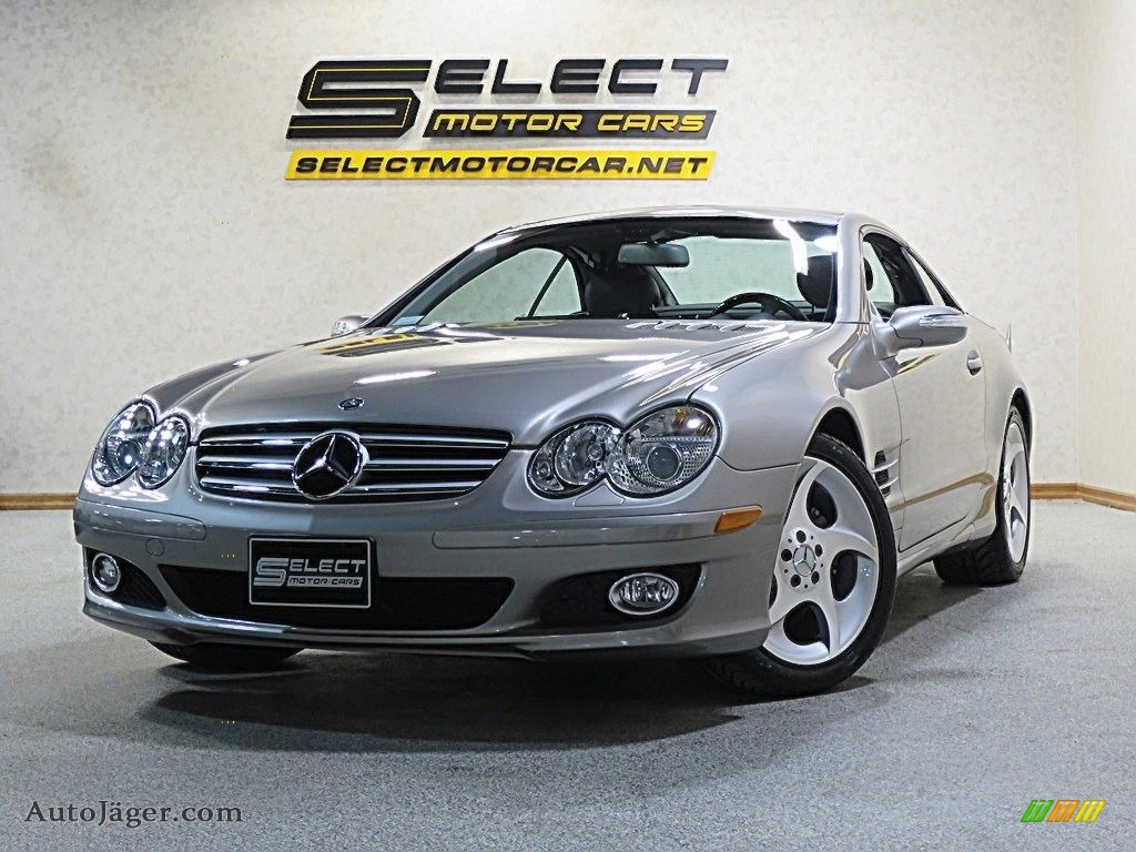 Pewter Metallic / Black Mercedes-Benz SL 550 Roadster