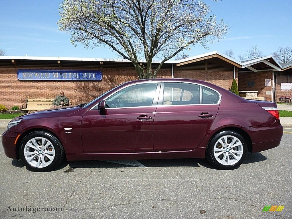2009 5 Series 535xi Sedan - Barbera Red Metallic / Natural Brown Dakota Leather photo #2