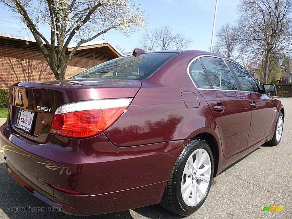 2009 5 Series 535xi Sedan - Barbera Red Metallic / Natural Brown Dakota Leather photo #5