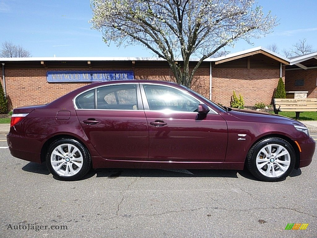 2009 5 Series 535xi Sedan - Barbera Red Metallic / Natural Brown Dakota Leather photo #6