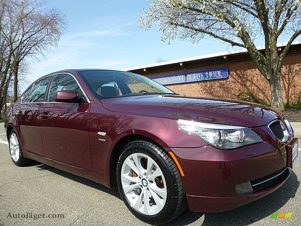 2009 5 Series 535xi Sedan - Barbera Red Metallic / Natural Brown Dakota Leather photo #7