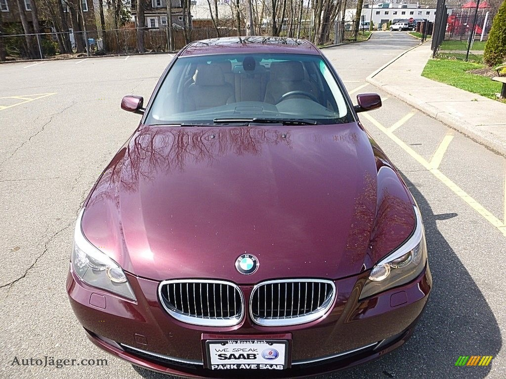 2009 5 Series 535xi Sedan - Barbera Red Metallic / Natural Brown Dakota Leather photo #8