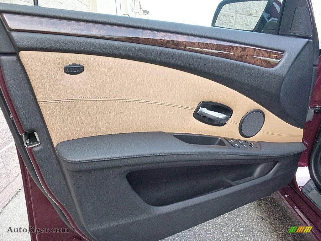 2009 5 Series 535xi Sedan - Barbera Red Metallic / Natural Brown Dakota Leather photo #10