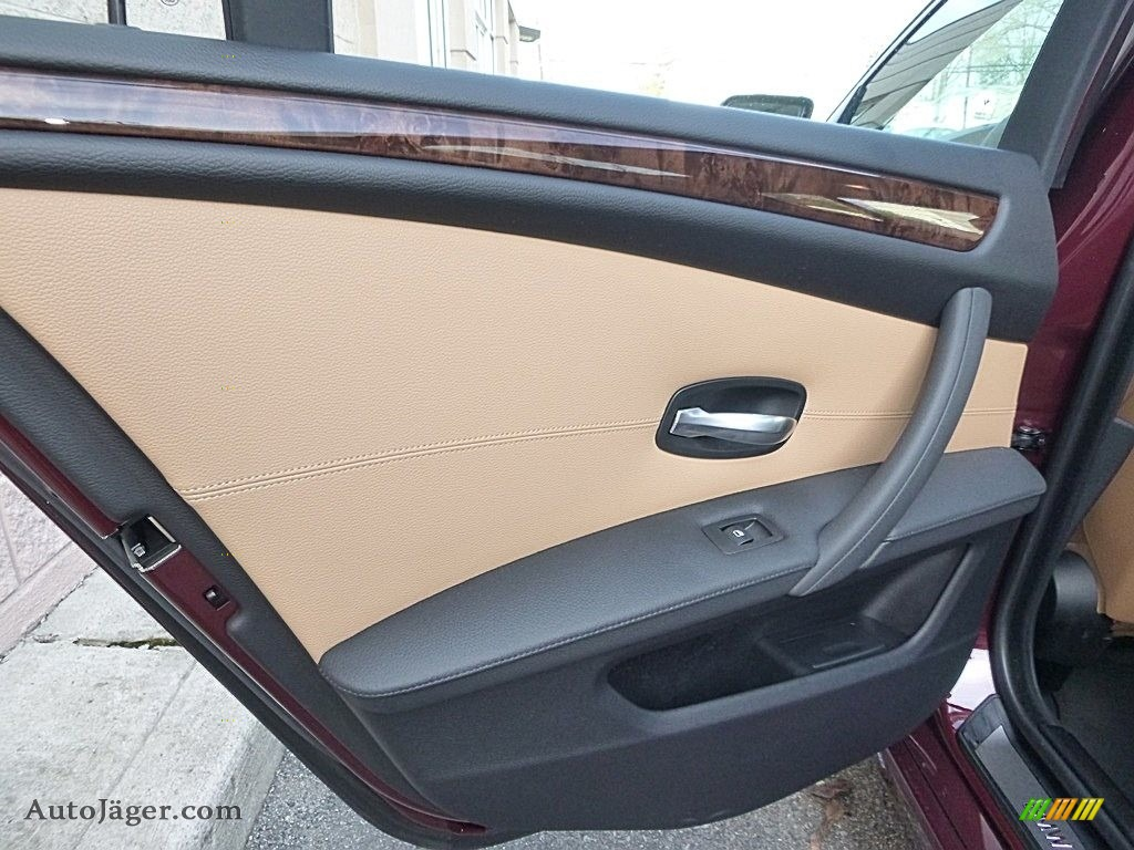 2009 5 Series 535xi Sedan - Barbera Red Metallic / Natural Brown Dakota Leather photo #14