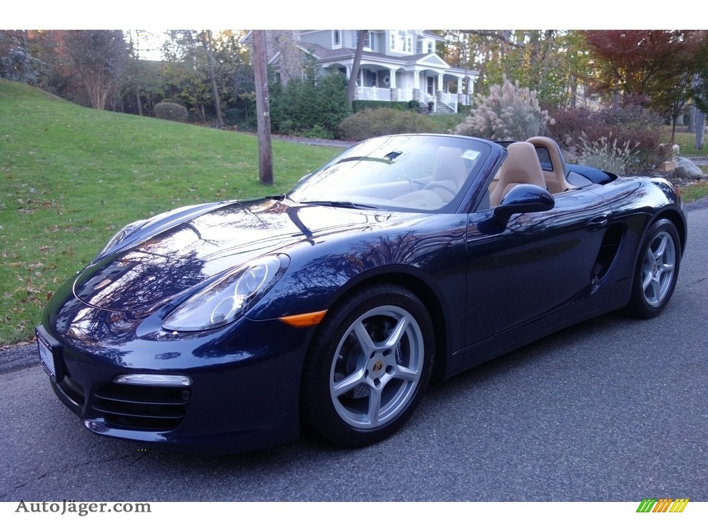2015 Boxster  - Dark Blue Metallic / Luxor Beige photo #1