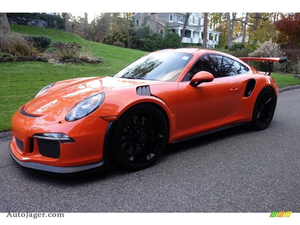 2016 911 GT3 RS - Gulf Orange, Paint to Sample / Black/Lava Orange photo #1