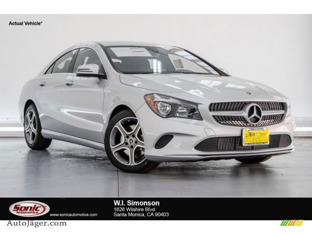 2018 CLA 250 Coupe - Polar Silver Metallic / Black photo #1