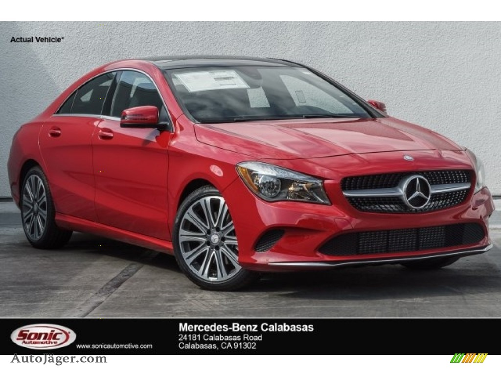 Jupiter Red / Black Mercedes-Benz CLA 250 Coupe