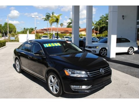 Black 2015 Volkswagen Passat SE Sedan