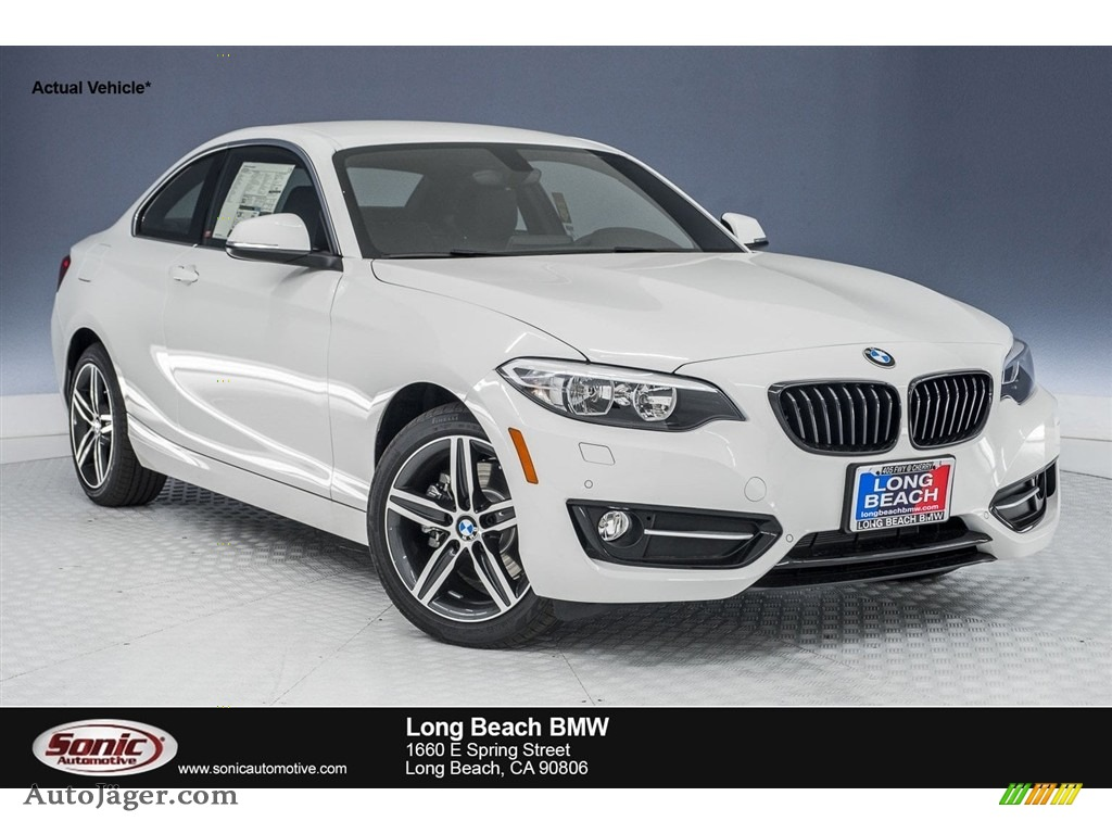 2018 2 Series 230i Coupe - Alpine White / Black photo #1