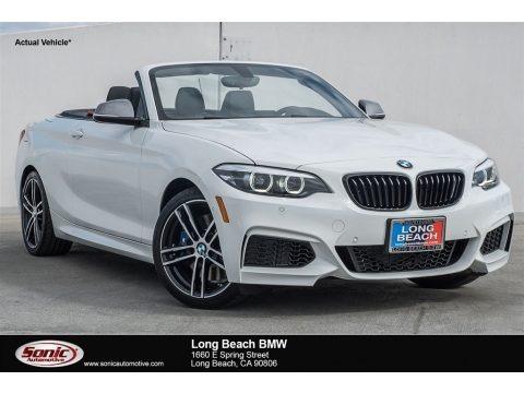 Alpine White 2018 BMW 2 Series M240i Convertible