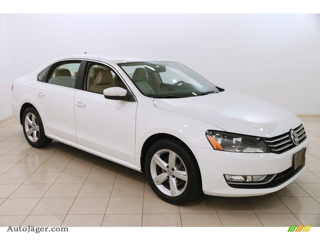 2015 Passat Wolfsburg Edition Sedan - Candy White / Cornsilk Beige photo #1