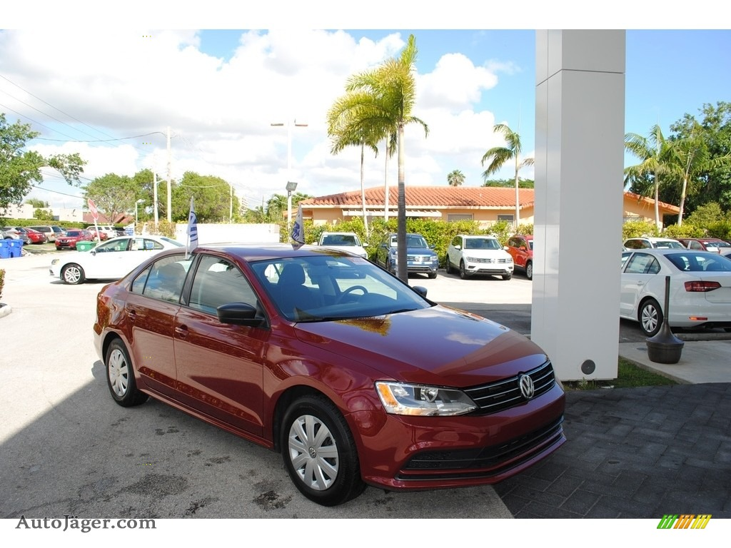 2016 Jetta S - Cardinal Red Metallic / Titan Black photo #1