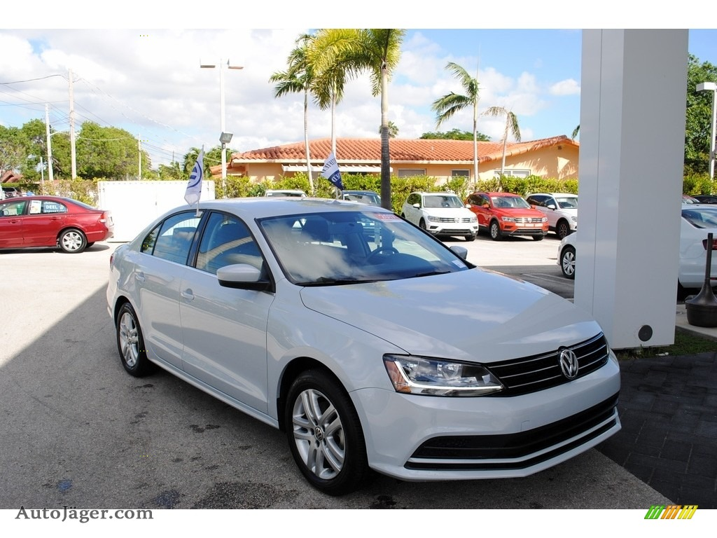 2017 Jetta S - White Silver / Black/Palladium Gray photo #1