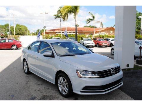 White Silver 2017 Volkswagen Jetta S