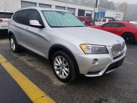 Titanium Silver Metallic 2014 BMW X3 xDrive28i