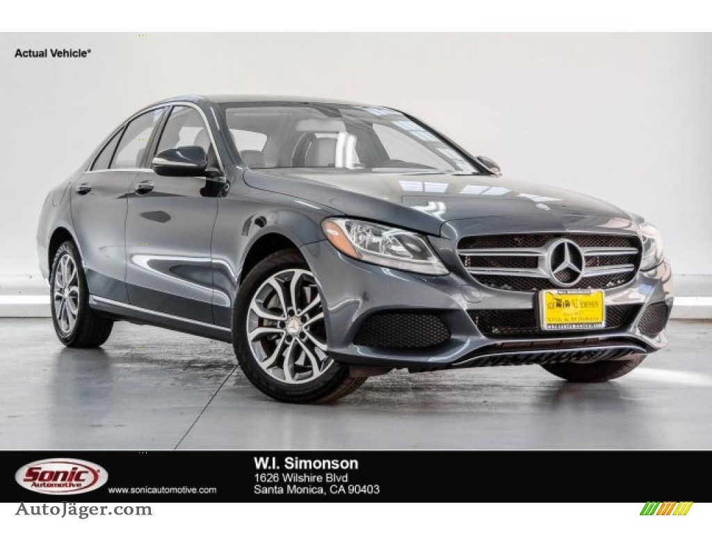 2015 C 300 4Matic - Steel Grey Metallic / Grey/Black photo #1