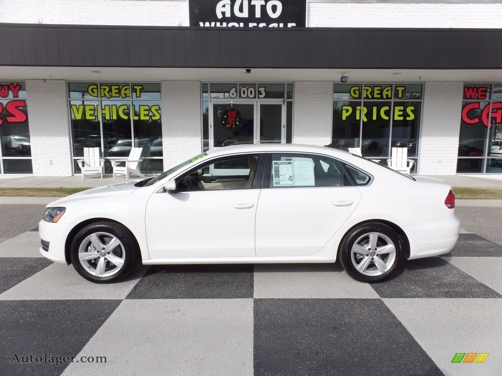 2015 Passat SE Sedan - Candy White / Cornsilk Beige photo #1