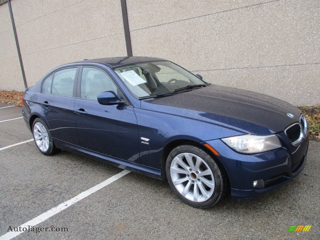 2011 3 Series 328i xDrive Sedan - Deep Sea Blue Metallic / Oyster/Black Dakota Leather photo #1
