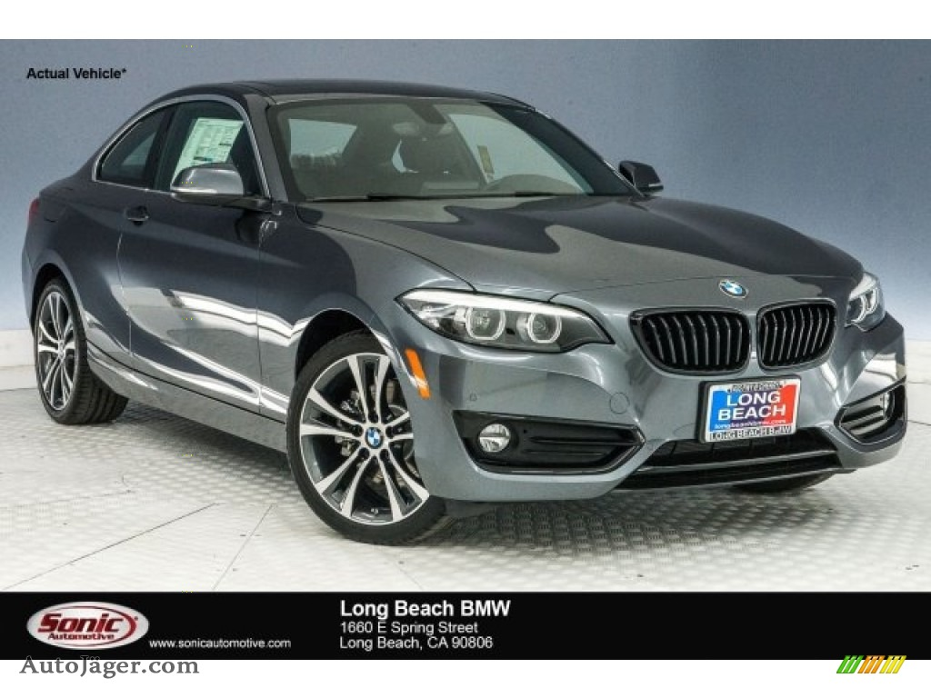 2018 2 Series 230i Coupe - Mineral Grey Metallic / Black photo #1