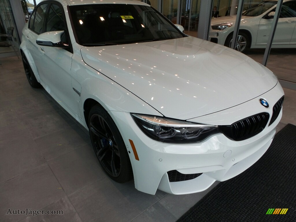 Alpine White / Black BMW M3 Sedan