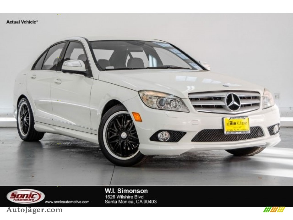 2008 C 300 Sport - Arctic White / Black/Sahara Beige photo #1