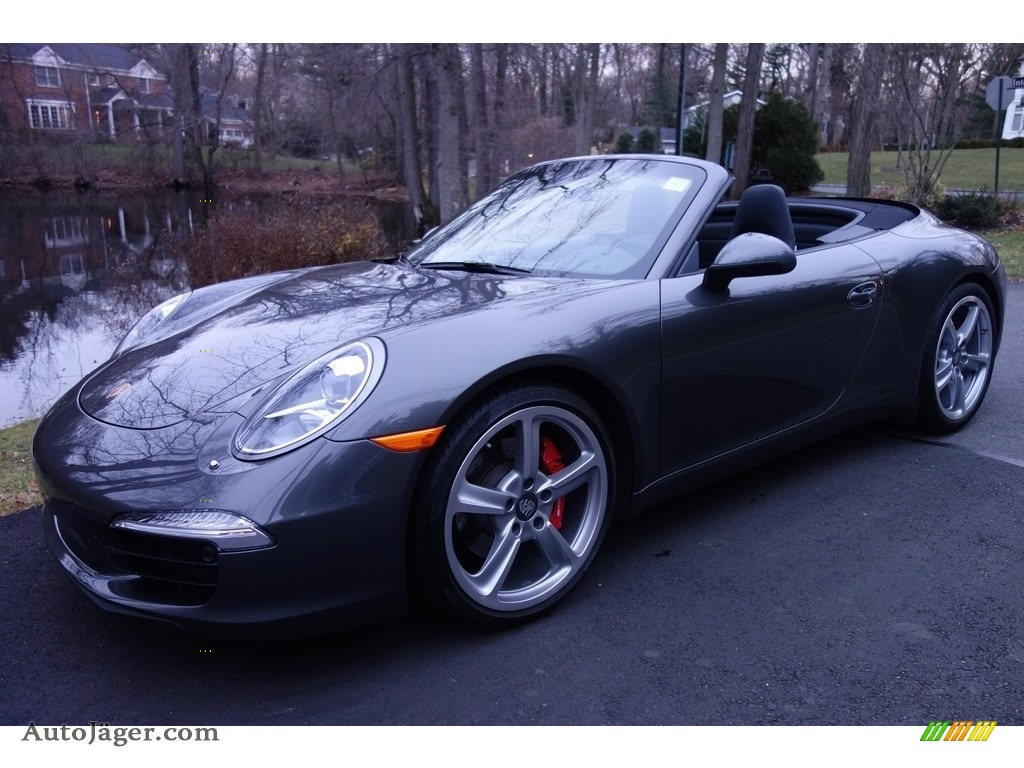 2015 911 Carrera S Cabriolet - Agate Grey Metallic / Black photo #1