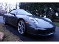 Porsche 911 Carrera S Cabriolet Agate Grey Metallic photo #8
