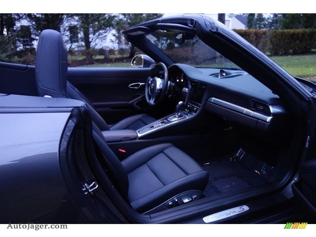 2015 911 Carrera S Cabriolet - Agate Grey Metallic / Black photo #15