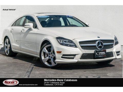 Diamond White Metallic 2014 Mercedes-Benz CLS 550 Coupe