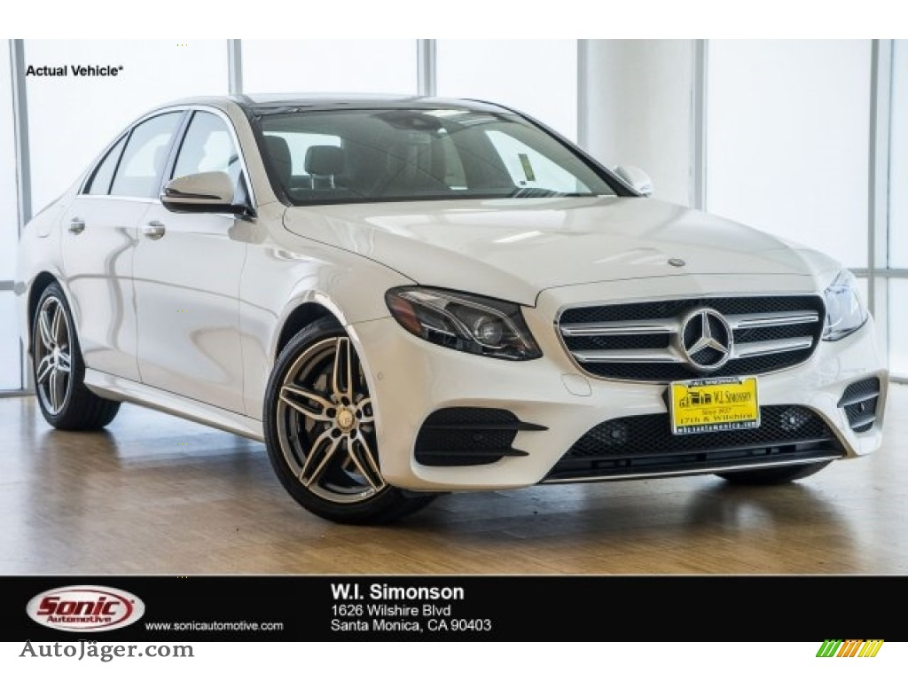 2018 E 300 Sedan - Polar White / Saddle Brown/Black photo #1