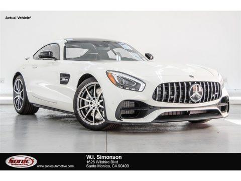 designo Diamond White Metallic 2018 Mercedes-Benz AMG GT Coupe