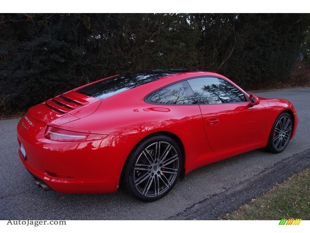 2016 911 Carrera S Coupe - Guards Red / Black/Luxor Beige photo #6